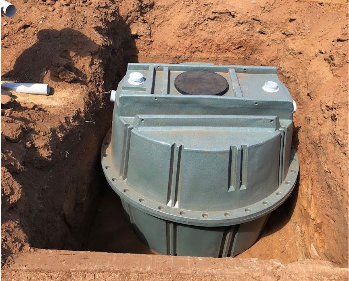 4,000 litre Coerco poly septic tank installation