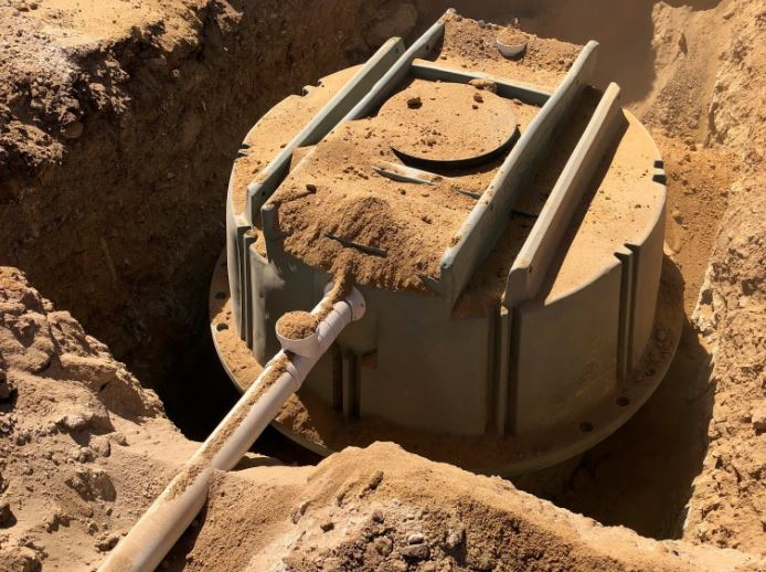 Coerco 4,000-litre poly septic tank installation